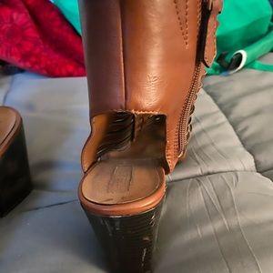 Brown sandal heels